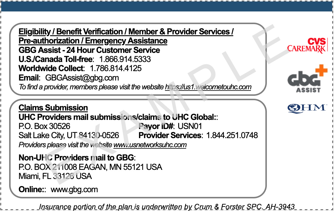 Insurance ID Card Instructions