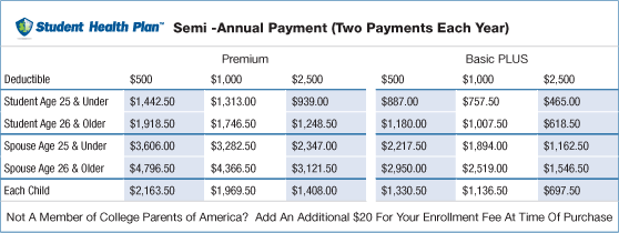 Semi -annual payment plan